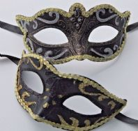 Black and Gold Glamour Masks
